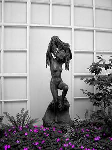 Huntington Gardens Statue B&W