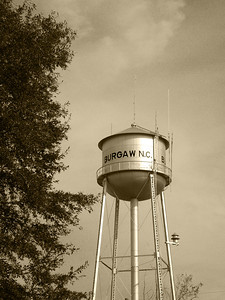 Burgaw Water Tower Sepia