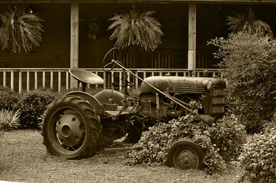 Old Tractor Sepia
