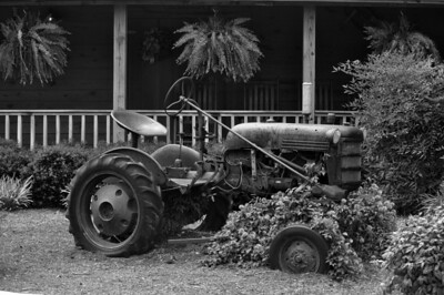 Old Tractor B&W