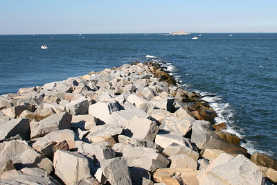 Looking North from the First Island, Chesapeake Bay Bridge Tunnel, Va.