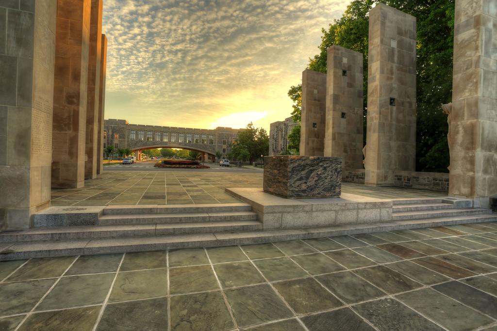 Virginia Tech War Memorial at Sunrise