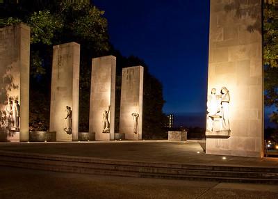 The Virginia Tech War Memorial.