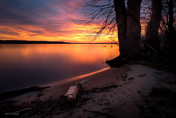 Sunrise at Pohick Bay Regional Park