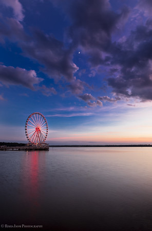 Capital Wheel at the blue hour.