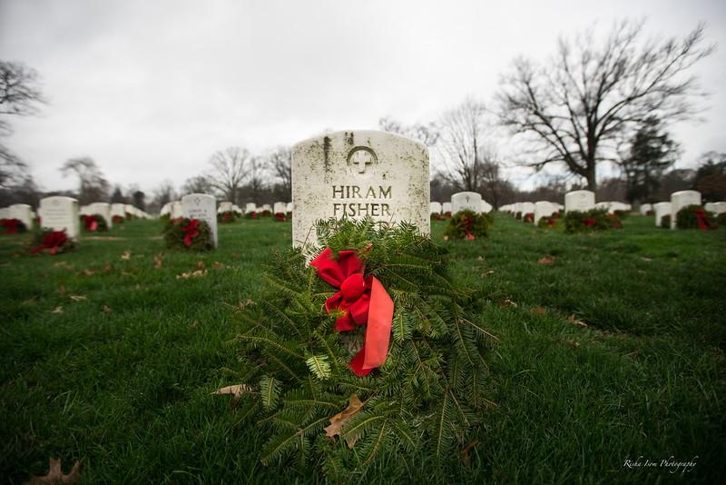 Wreaths at Arlington National Cemetery