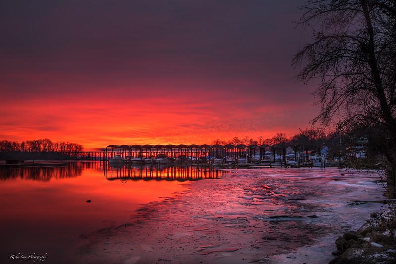 Red skies at dawn...