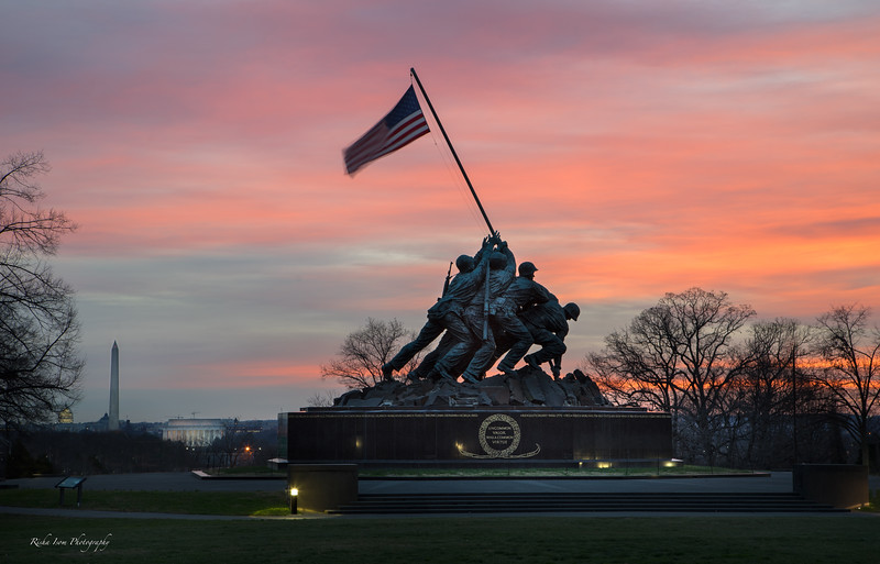 Pastels over Iwo Jima.