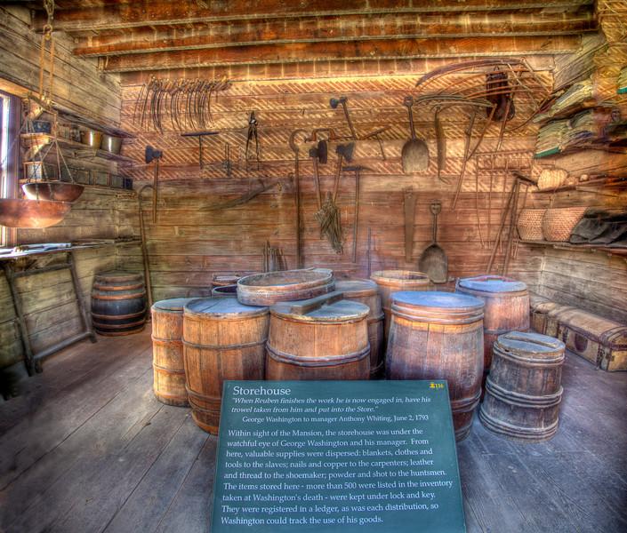 Mt Vernon storehouse, HDR.  panorama
