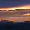 sunset over Blue ridge Mountains