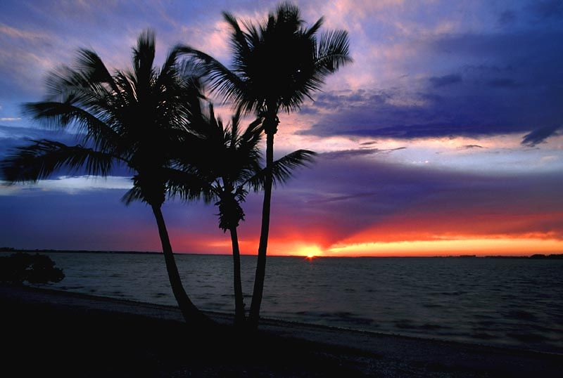 (I030) Sunset near Sanibel Island, Florida