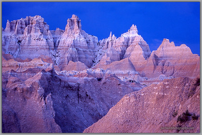 Badlands Spires at Sunset   (SD-0212)