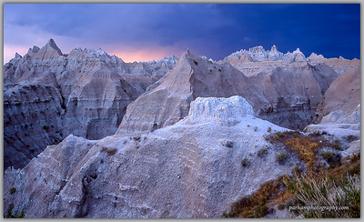 Badlands at Sunset  (SD-0213)