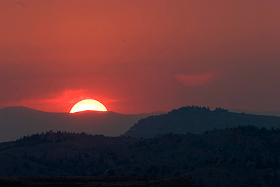 (WY-07004)  Sunset near Cody, Wyoming