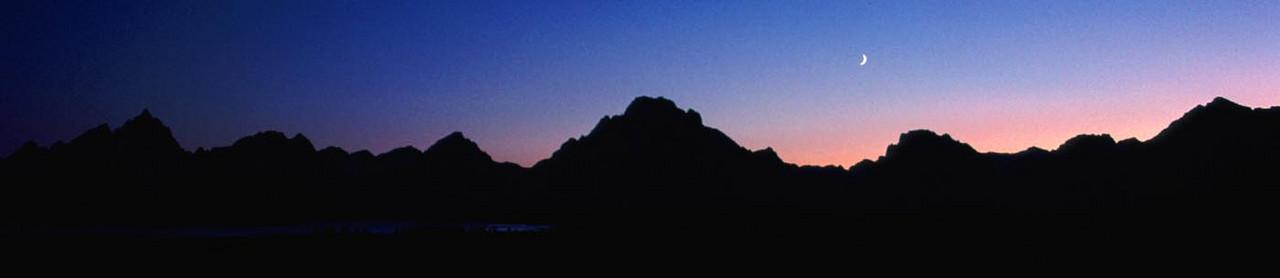 (I013) Evening panorama - Grand Teton National Park, Wyoming