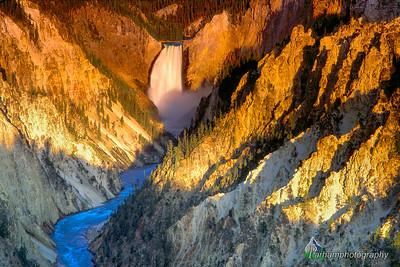Lower Falls at Sunrise  (I055)