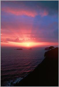 (B090)  Oregon Coast Sunset