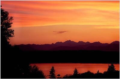 (J040)  Olympic Sunset