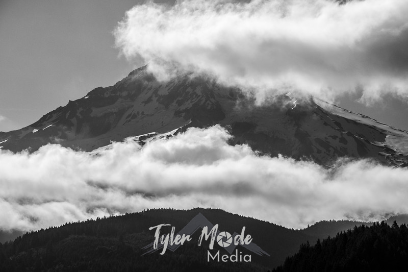 3  G Hood and Clouds Close BW