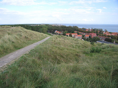 Haven en dorp gezien vanaf het Torenpad