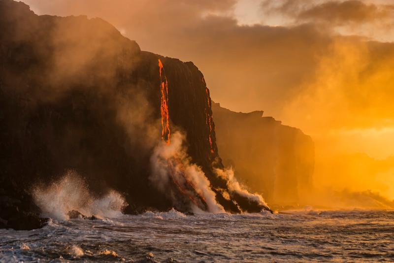 Sunrise at the lava