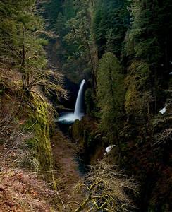 Metlako falls on Eagle creek in the Columbia River Gorge Oregon.
