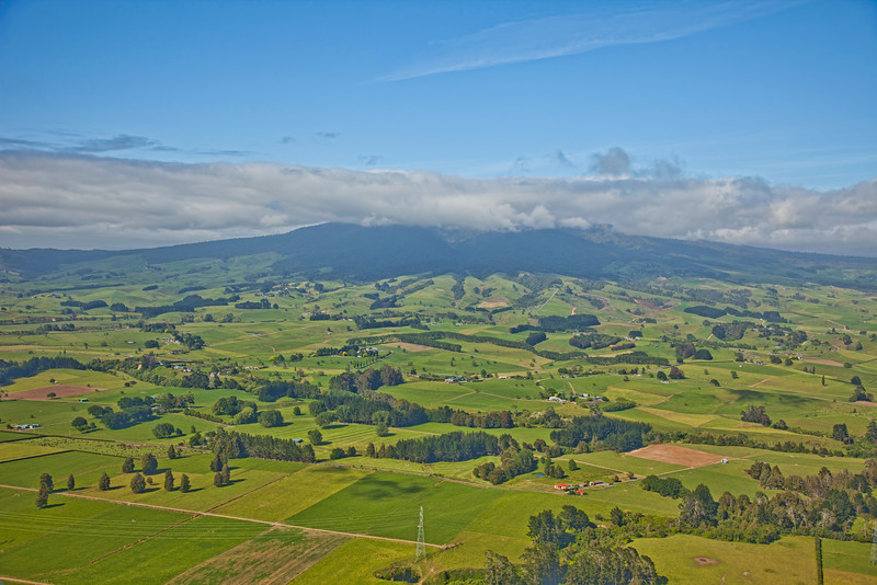 Mt Pirongia from the air, Waikato, New Zealand