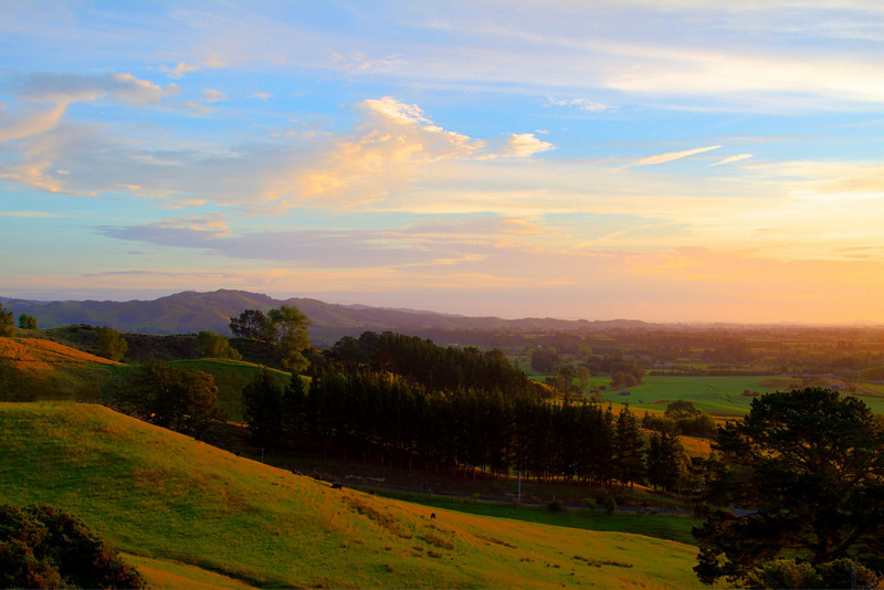 Sunset near Cambridge New Zealand