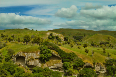 Between Port Waikato and Nikau Cave, New Zealand