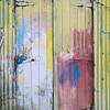 Technicolour boatyard door, Canaerfon, Wales