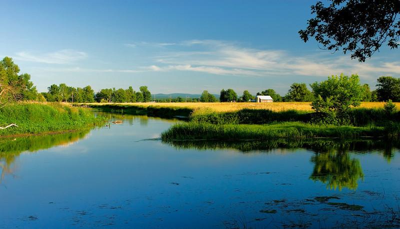 Trout River in Godmanchester, Quebec
