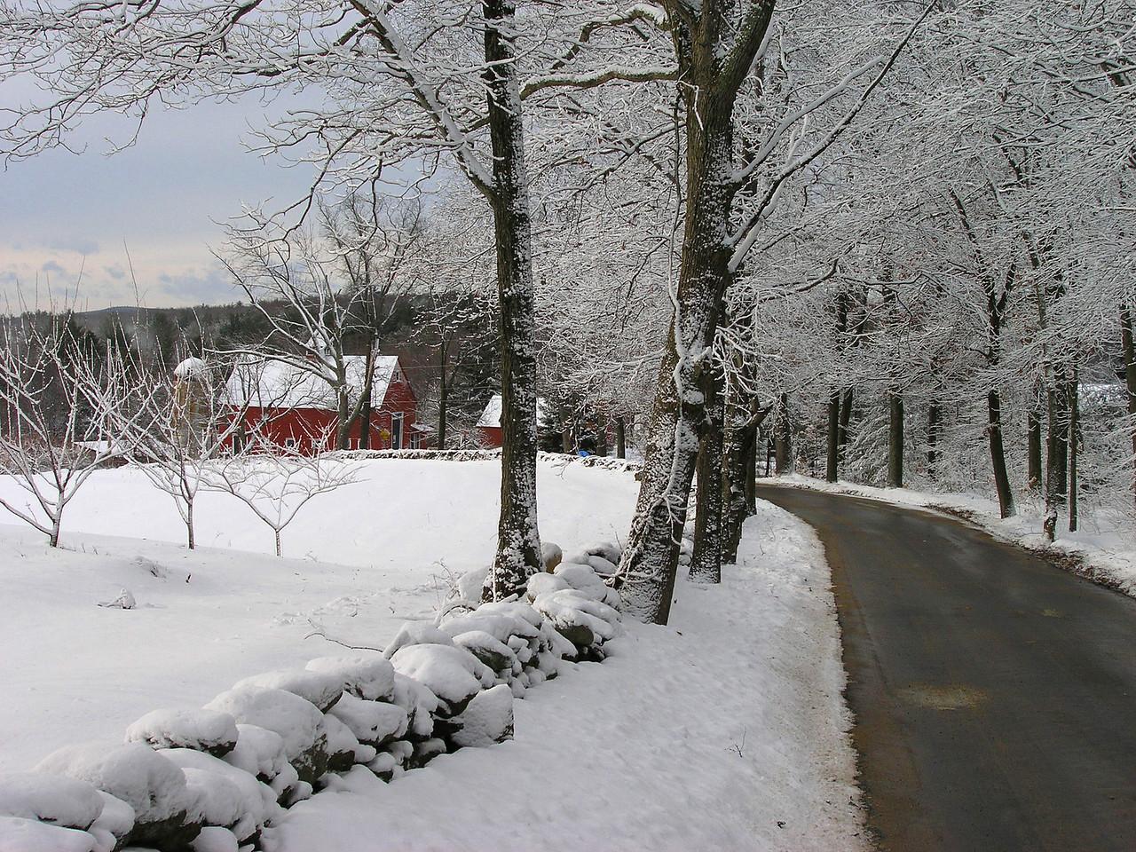 early snow Bolton, MA