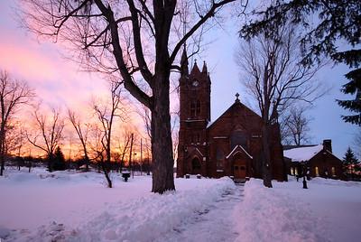Trinity Episcopal Church; Fall Island in Potsdam, NY