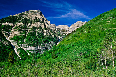 Summer on Mount Timpanogos; from the same tripod spot as in the previous two images.  Bill's original capture was on film in 2002.
