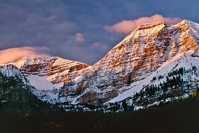 was32: Dawn light on Mount Timpanogos.  Bill's original capture was on film in 2000.