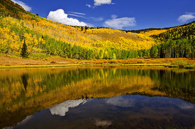 Autumn reflections in Willow Lake, Big Cottonwood Canyon