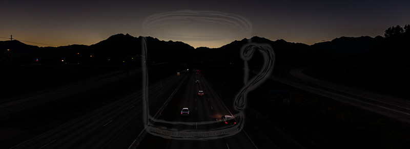 Wasatch Silhouette - 9th East overpass