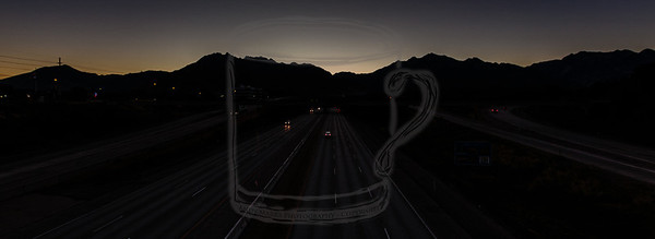 Wasatch Silhouette - overpass view