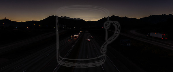 Wasatch Silhouette - I-215 9th East overpass