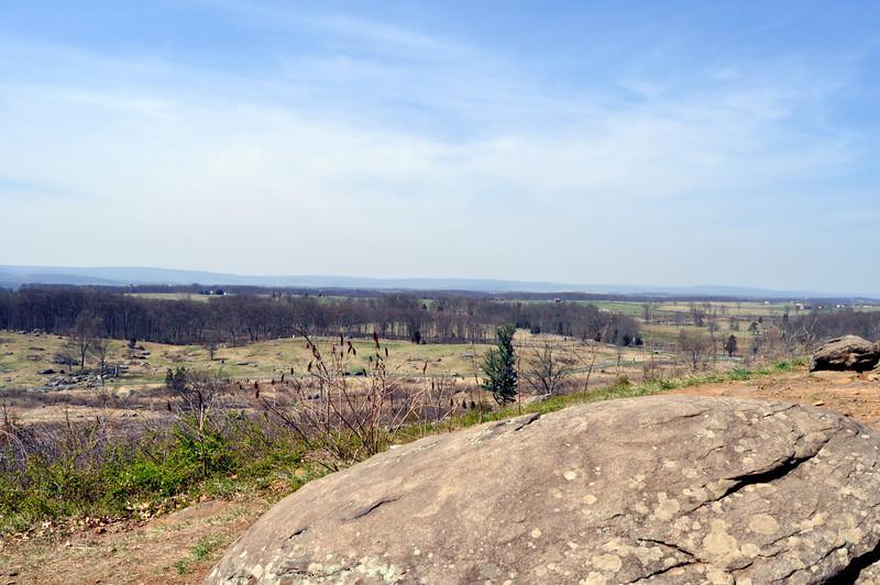 View From Little Round Top, Gettysburg