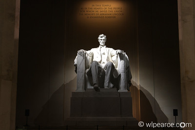 Lincoln Memorial.  Pre-Dawn (note the lack of people).