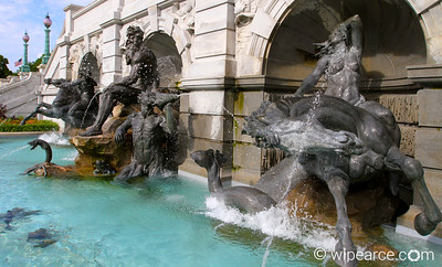 King Neptune in front of the Library of Congress