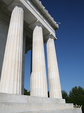 While Marble Columns in Lincoln Memorial