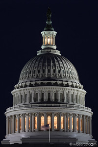 Capitol Dome at night.