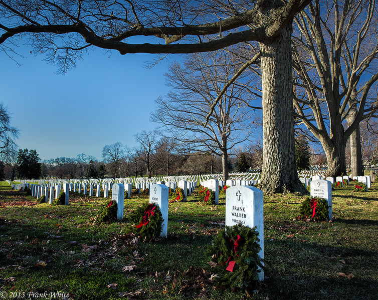 Arlington National Cemetery in winter