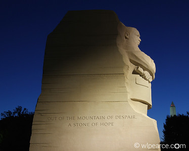 Martin Luther King Jr. Memorial at dawn