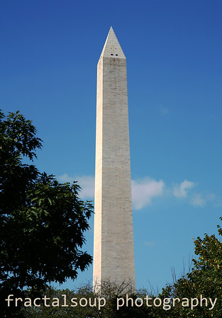 Washington Monument against a Brilliant Blue Sky