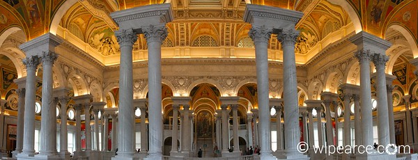 A multi-image panorama of the Library of Congress