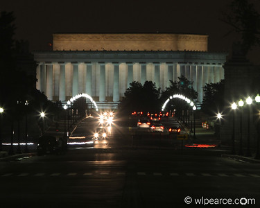 Lincoln Memorial from across the river in Arlington Cemetery.
