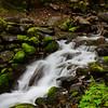 Mossy rocky falls
